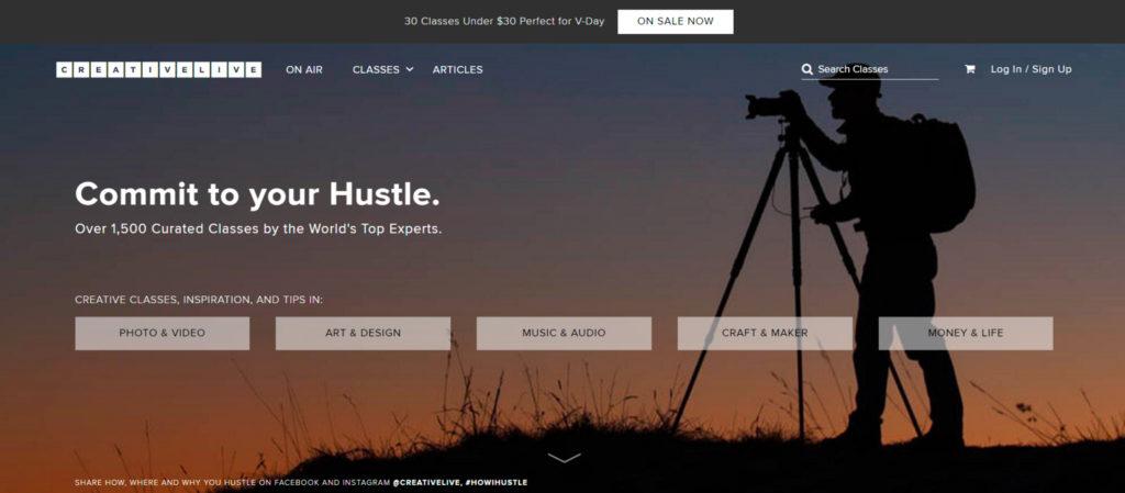platforma Creative Live szkolenia dla kreatywnych