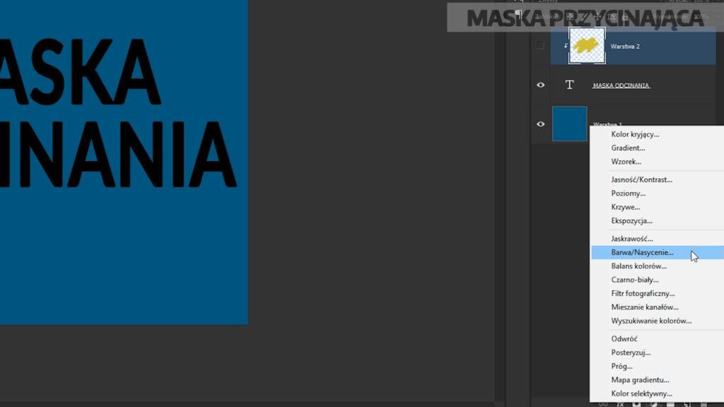 tworzenie nowej warstwy dopasowania barwa/nasycenie